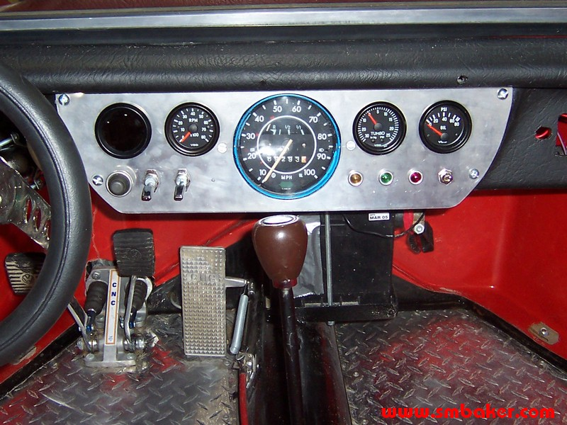 Sand Rail Speedometer : Manx instrument panel dr scott m baker