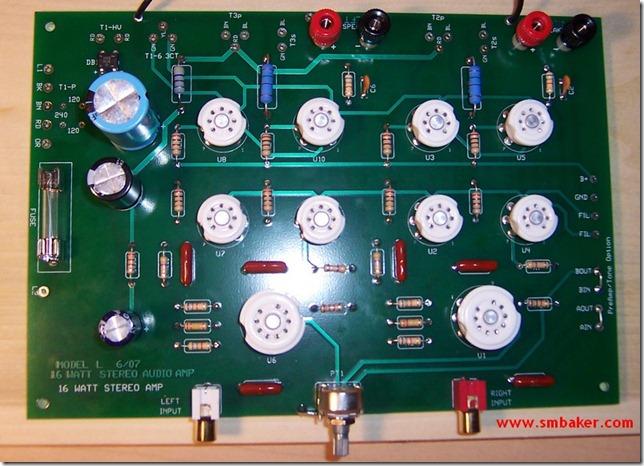 building a tube amplifier  dr. scott m. baker, schematic
