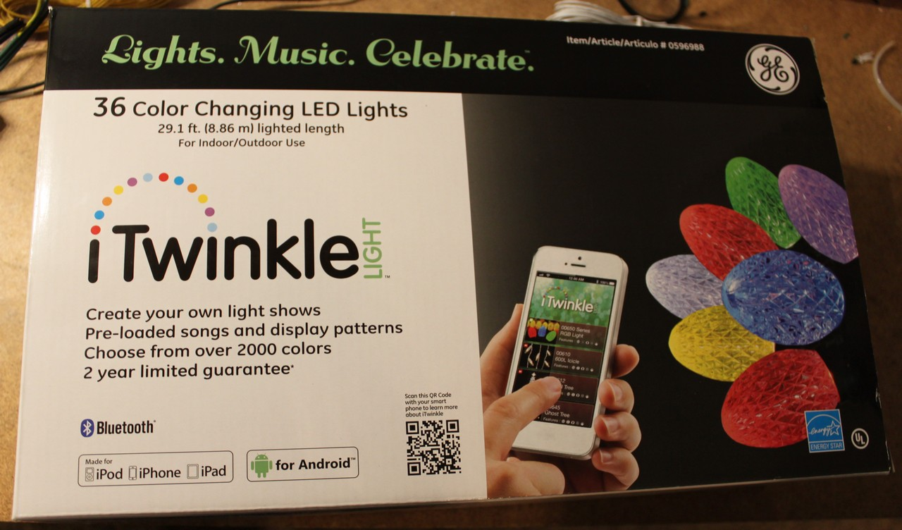 GE iTwinkle 36 LED Christmas light teardown and hacking - Dr ...