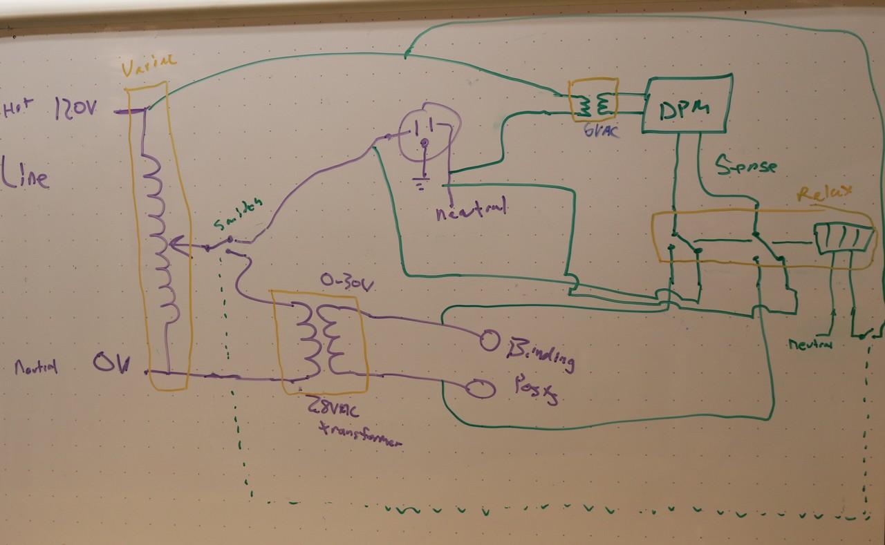 Diy Variable Ac Power Supply Dr Scott M Baker 0 30v Circuit Diagram White Board Schematic