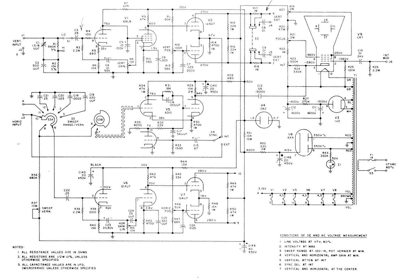 Eico 430 Oscilloscope Dr Scott M Baker Powerhorse Engine Wiring Diagram An Error Occurred