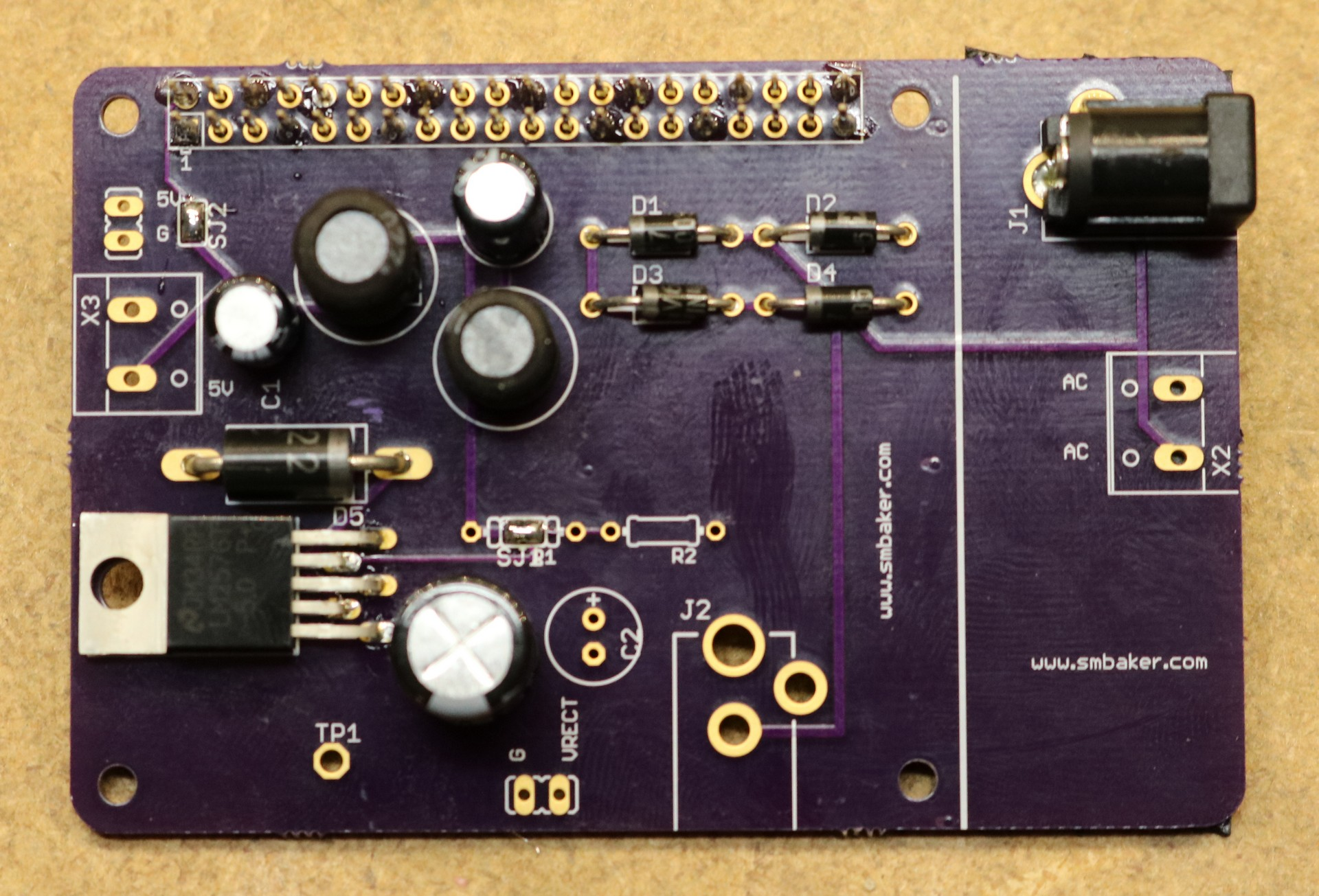 Raspberry Pi Switching Power Supply Shield - Dr. Scott M