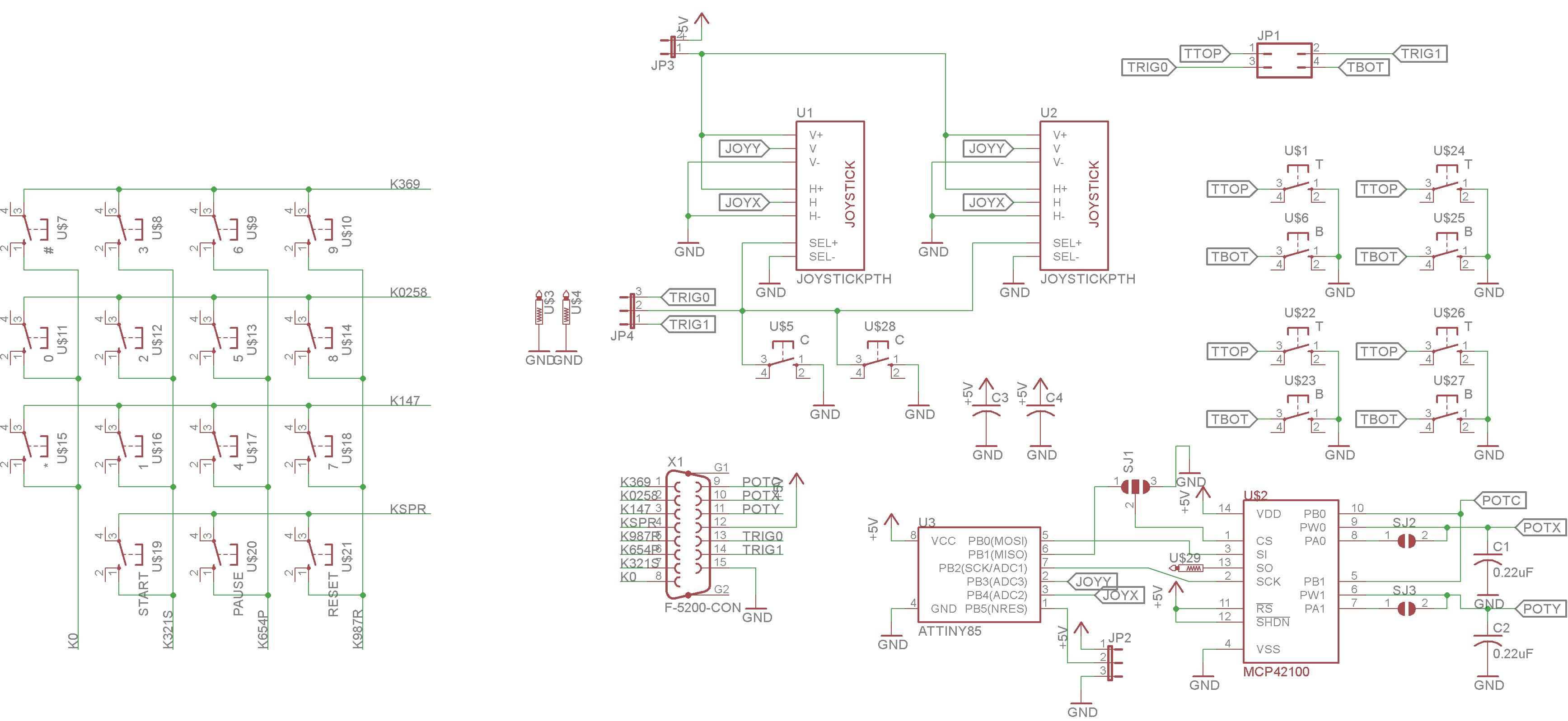 Atari 5200 Controller Wiring Diagram Modern Design Of Analog Joystick Images Gallery