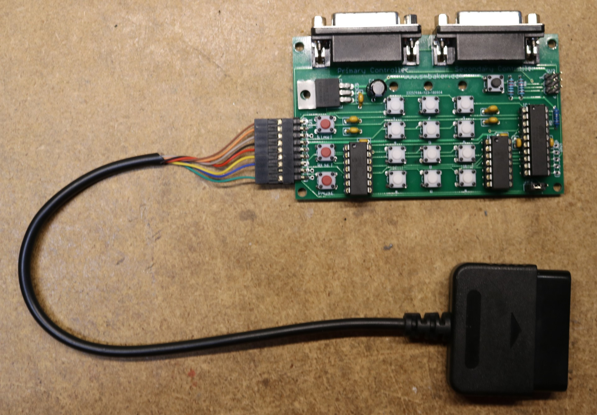 Atari 5200 Playstation 2 Dual Shock Controller Adapter Dr Scott M Ps2 Power Schematic Assembled