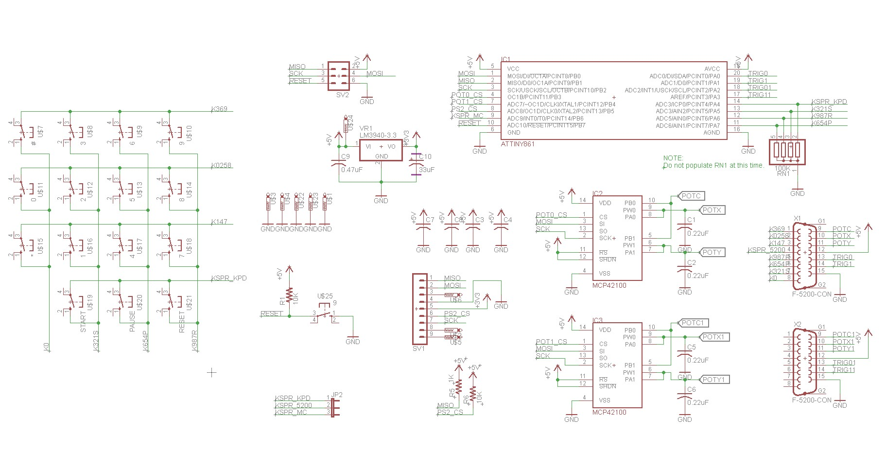 atari 5200 ps2 controller adapter schematic