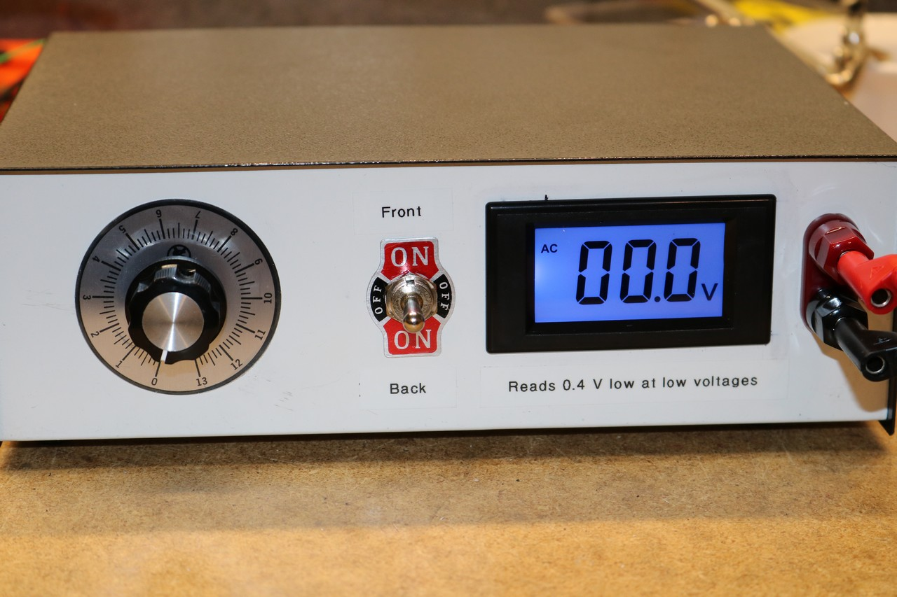 Diy Variable Ac Power Supply Dr Scott M Baker How To Build Voltage And Current Front View