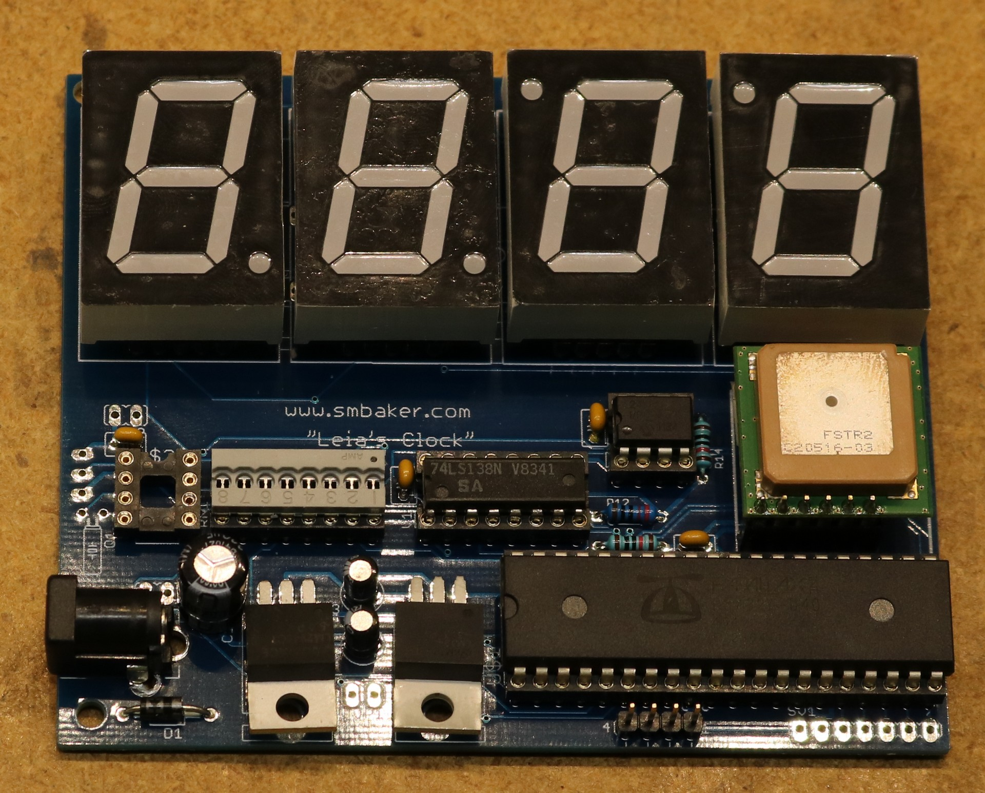 Leias Led Clock Dr Scott M Baker Using Pic Microcontroller Assembled Pcboard